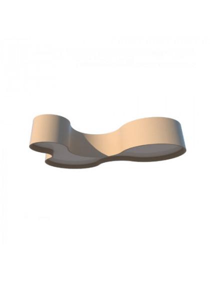 Plafon de Madeira Semi Cilíndrico Moderno-Cappuccino