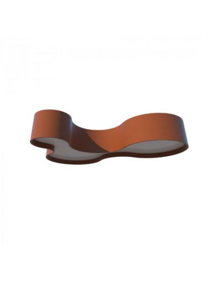 Plafon de Madeira Semi Cilíndrico Moderno-Cobre