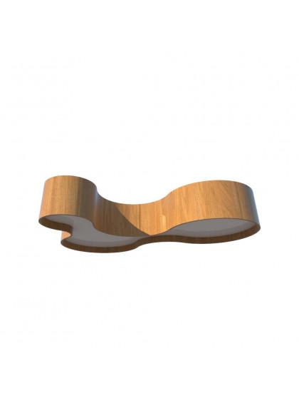 Plafon de Madeira Semi Cilíndrico Moderno-Madeira Freijo