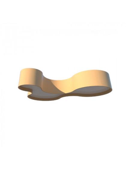 Plafon de Madeira Semi Cilíndrico Moderno-Ouro