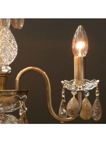 Lustre Bohemia com Cristal de Rocha | CT-119-3-CR-Fume - Cristal de Rocha