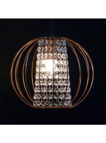 Pendente Aramado com Cristal | PD-124-Cobre