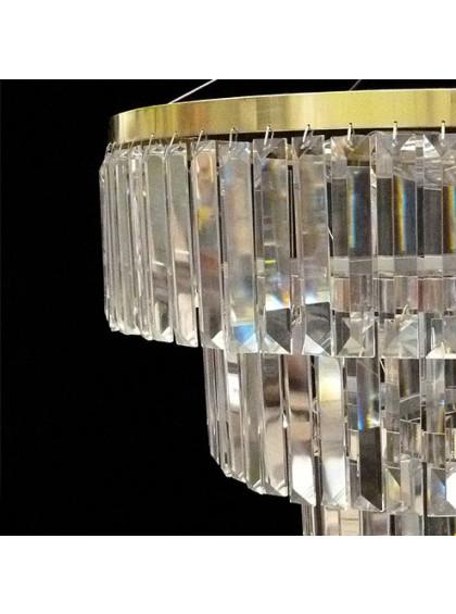 Pendente de Cristal Strati   ST-104-5-Ouro Vivo