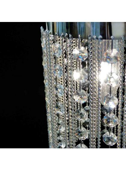 Pendente de Cristal Strati   STC-105-Cromado